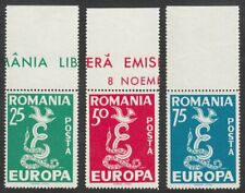 Romania, 1958 Europa CEPT, Unmounted Mint MNH Marginals. SCARCE