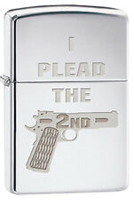 I Plead the 2nd Amendment Right to Bear Arms Patriotic Zippo Lighter