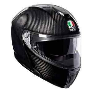 AGV Sports Modular Gloss Carbon Flip Up Motorcycle Helmet Size Small **