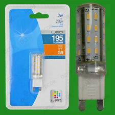 4x 3W G9 Capsule LED Ultra Low Energy, Instant On Light Bulb Halogen Replacement