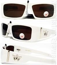 Triple Crown LOC Sunglasses Dark Brown Lenses White High Roller