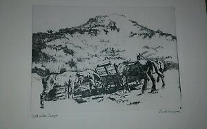 ETCHING-LIONEL BARRYMORE-DRY DOCK-TALIO CHROME