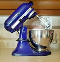Kitchen Aid Ultra Power KSM90BU Royal Blue 4 12 Qt Stand Mixer 3 Attachments