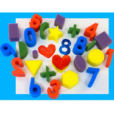 Sponge painting Numbers, symbols and shapes