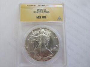 1986 Silver Eagle , ANACS , MS 68 , $1