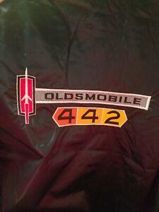 Oldsmobile 442   Black satin beautifully embroidered Jacket Adult 2XL