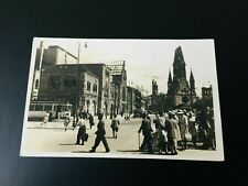 Berlin 1950 RPPC Street Scene Destroyed Buildings Posted to London England