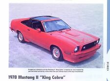 1978 Ford Mustang II 2 King Cobra 302 ci Info/Specs/photo/prices production 11x8