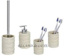 4 Piezas Set Inodoro Conjunto Dispensador de Jabón Vaso Cepillo dientes WAVE OLA