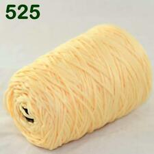 Lof of 1Cone 400g Worsted Cotton Chunky Super Bulky Hand Knitting Yarn Lemon