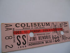JIMI HENDRIX__1968__Original__UNUSED__CONCERT TICKET__Chicago Coliseum__EX(+)