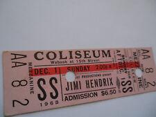 JIMI HENDRIX__1968__Original__UNUSED__CONCERT TICKET__Chicago Coliseum__EX(+)