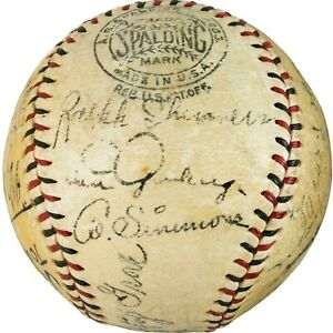 1931 Tour of Japan Team Signed Baseball with Lou Gehrig Simmons PSA/DNA LOA