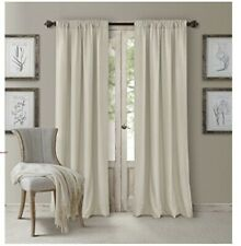 "Elrene Cachet 3-in-1 Room Darkening 52 x 84"" Window Panel IVORY"