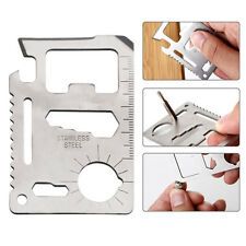 11 in 1 Multi Tool Credit Card Survival Pocket Knife Camping Handyman Gadget USA