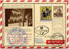 1963 Ballonpost n. 29 Pro Juventute Aerostato Congresso UITP Wien St. Veit
