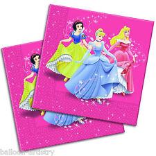 20 Disney Princess Pink Fairy Tale Disposable 33cm Paper Napkins