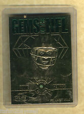 1997 NFL Gems Eddie George 23 Kt Karat Gold Card W Emerald