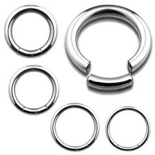 Surgical Steel Segment Ring Seamless Nose Hoop Lip Septum Ring Cartilage Earring