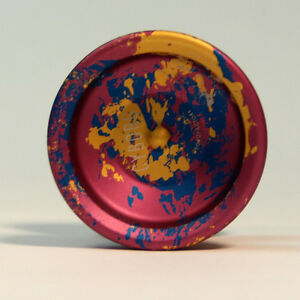 YoYoFactory Cyborg Yo-Yo - Burgundy, Blue and Gold