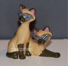 Disney Store VHTF LE 1955 CERAMIC FIGURINE SI & AM Lady & the Tramp Siamese Cats