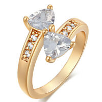 Womens Wedding Bow Crystal Ring Size 5 6 7 8 9 Wholesale Yellow Gold Filled