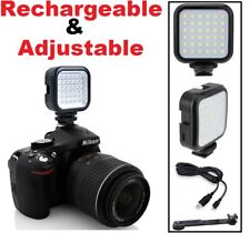 LED Video Light With Charging Kit For Canon Vixia HF S20 S21 S200
