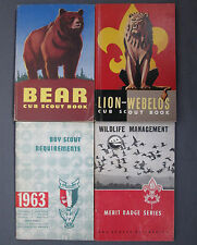 4 Boy Scout Books: Lion-Webelos Bear Wildlife Management Boy Scout Requirements