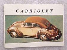 Volkswagen Cabriolet  Post Card 1st On eBay Car Postcard. Own It!