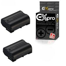 2X EN-EL15 Battery for Nikon 1 V1 D600 D610 D750 D800E D810A D7000 D7100