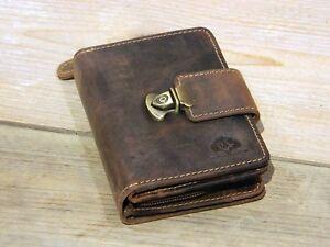 Greenburry Damen Leder Portemonnaie mit Steckschloss Vintage Original 1704-25