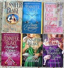 6 JENNIFER BLAKE HISTORICAL ROMANCES BOOKS NO DOUBLES FREE SHIPPING