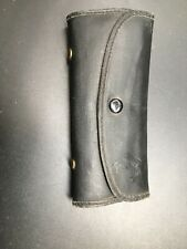 Vintage Leather Common Sense Fly Fishing Wallet Loaded With 32 Flies Leader