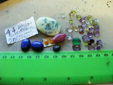 Lot of 44 Genuine Faceted & cab turquoise etc.mix Gemstones ;natural  stones.
