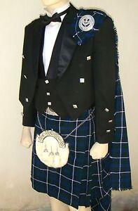 21 pcs   Scottish Prince Charlie Jacket, Vest and Kilt outfit set   PCJK21