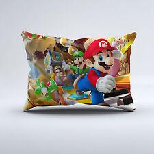 New Super Mario Bros Nintendo Games Luigi Bed Pillow Case Cover Kids Gift Idea
