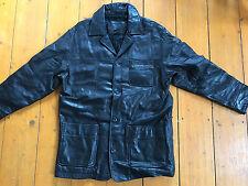Stüssy/Stussy Leder-Jacke Sammlerstück/Rare Athletics black Gr. L
