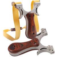 Steinschleuder Zwille Sportschleuder mit Ersatzgummi Katapult Outdoor Jagd