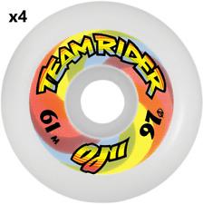 Santa Cruz OJ II Team Rider Skateboard Longboard Wheels 61MM 97a White Set/4