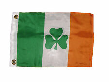"12x18 12""x18"" Irish Ireland Shamrock Clover Boat Car Flag Banner Grommets"