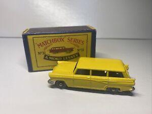 Matchbox Series A Moko Lesney No 31 Yellow Ford Station Wagon MW Original Box