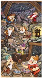 Disney Fine Art Limited Edition Canvas The Shine of A Million Gems-Seven Dwarfs