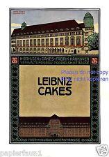 Keks Fabrik Bahlsen XL Reklame von 1911 Leibniz Cakes Listerstrasse Änne Koken