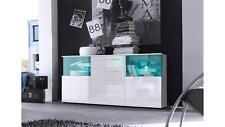 Kommode Punch weiß Glanz Wohnzimmer Sideboard Esszimmer Anrichte mit Beleuchtung