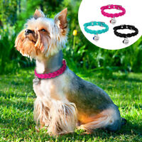 Soft Suede Braided Dog Collar & Custom Personalized ID Tag for Cats Small Dogs