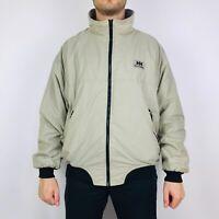 Helly Hansen Jacket Men's Large Beige Fleece Lined Full Zip