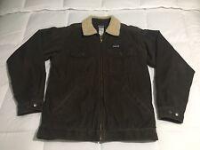 Mens PATAGONIA Vintage Fleece-Lined Sherpa Corduroy Jacket Brown Medium M