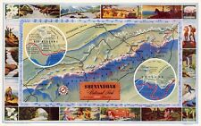 Shenandoah National Park recreational activities 1947 pictorial map POSTER 11290