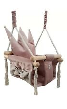 Baby Swing Swings Chair Child Wood Swing Chair Crown Toy