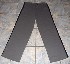 GIANFRANCO FERRE FORMA GRAY JERSEY LEATHER TRIM PANTS 56 ITALY SOFT WARM COMFY !